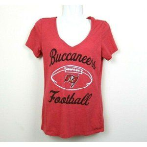 NFL Team Apparel Womens Blouse V Neck Short Sleeve